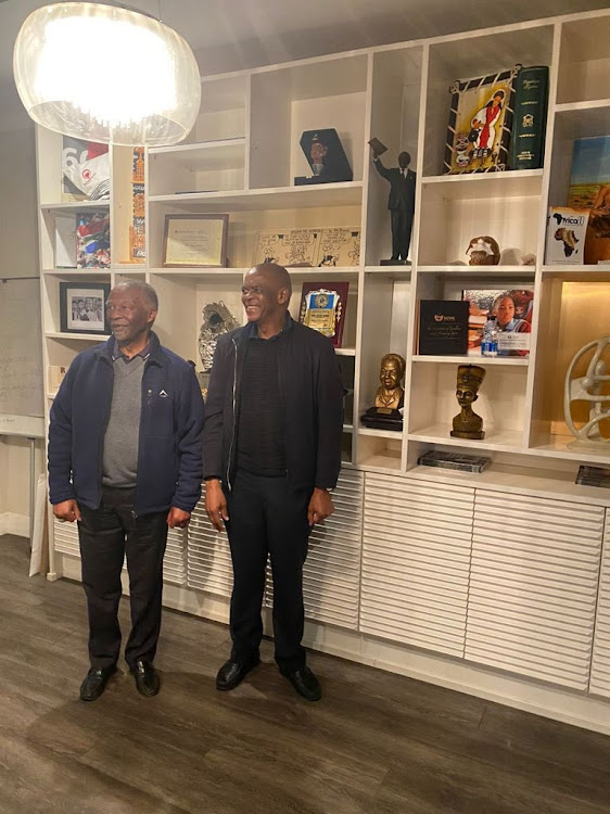 ANC secretary-general Ace Magashule and former president Thabo Mbeki.