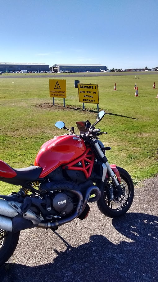 Ducati Monster 1200 north Weald airfield