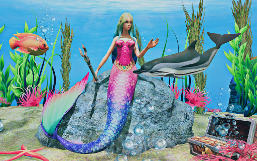 Mermaid Simulator 3D - Sea Animal Attack Games screenshots apkspray 8