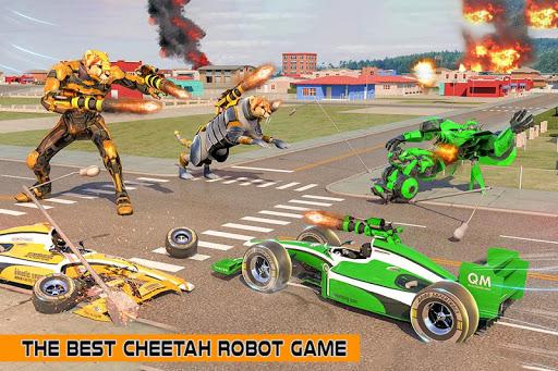 Cheetah Robot Car Transformation Formula Car Robot filehippodl screenshot 2