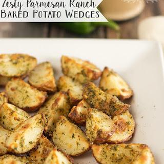 Zesty Parmesan Ranch Baked Potato Wedges