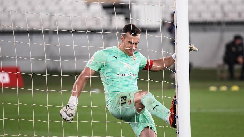 La rabia de Fernando Martínez tras encajar el gol de Bebé ante el Rayo.