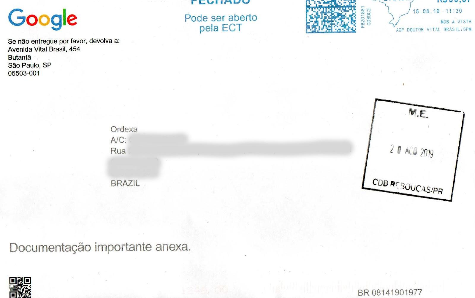 cartão postal google