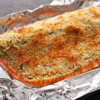 Basic Baked Breaded Salmon.