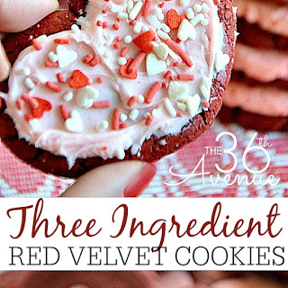 Red Velvet Cookies ~ Three Ingredients