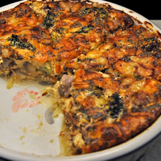 Sausage and Broccoli Quiche Recipe