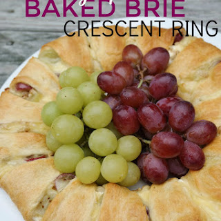 Roasted Grape Baked Brie Crescent Ring