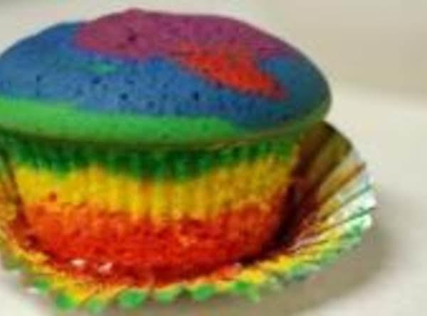 Taste A Rainbow Holiday Cupcake
