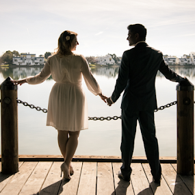 chained by Michael Keel - People Couples ( married, wedding, pier, marriage, couples )