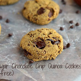 Low Sugar Chocolate Chip Quinoa Cookies (Gluten-Free)