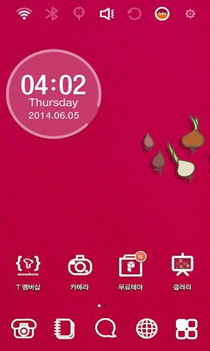 Gardening Red Onion Theme