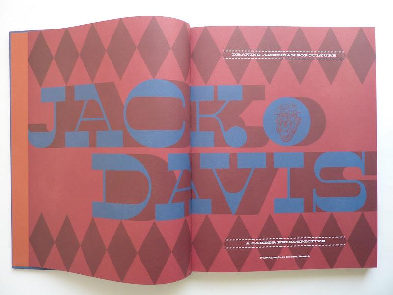"Photo: Jack Davis: Drawing American Pop Culture - A Career Retrospective by Jack Davis  http://www.fantagraphics.com/artofjackdavis  208-page full-color 10.25"" x 13.25"" hardcover • $49.99 ISBN: 978-1-60699-447-4 - Title pages."