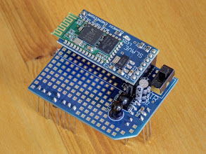 Photo: Bluetooth module with Asuro expansion board