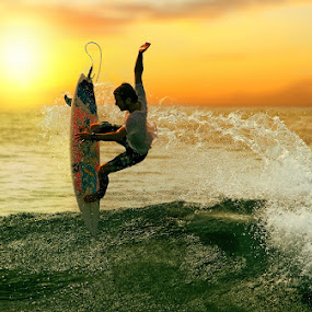 Kibasan Senja by Alit  Apriyana - Sports & Fitness Surfing