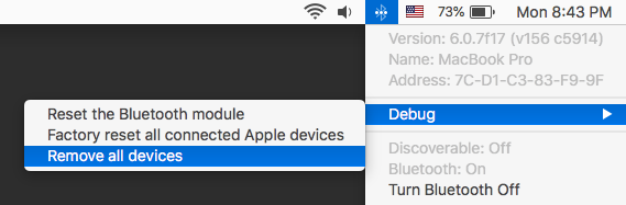 Select Debug > Remove all devices.