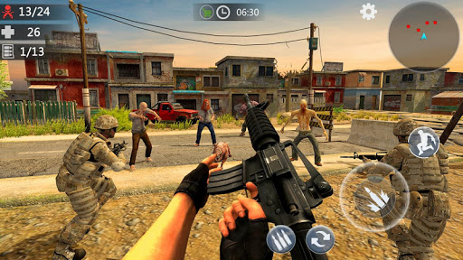 Zombie Survival Shooting Strike -Realistic FPS War screenshots 1