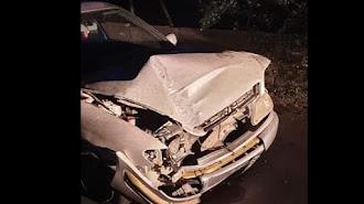 Vehículo siniestrado el pasado sábado, día en el que se tramitaron decenas de multas.