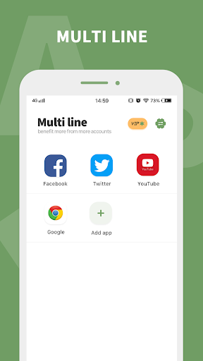 Multi line - dual line app & multiple accounts app 1.1.1 screenshots 1