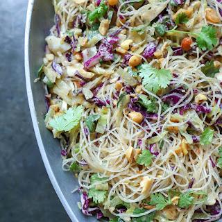Keto Asian Noodle Salad with Peanut Sauce.