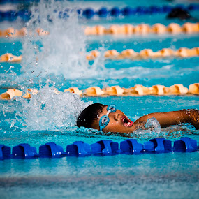 Swimming by Alexander Yap - Sports & Fitness Swimming ( water, blue, pool, swim, kids )