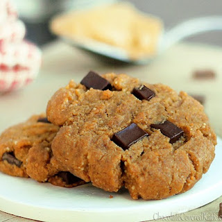 Peanut Butter Gingerbread Chocolate Chunk Cookies.