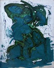 """Photo: """"Micronésie"""", Glycéro sur médium, 100x120cm, vertical."""