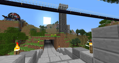 Photo: A view of John's tower from the bridge over the Slums.
