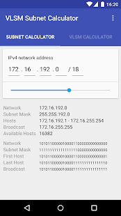VLSM / CIDR Subnet Calculator- screenshot thumbnail