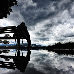It's Not As Bad As It Looks Like by Jessica Meckmann - Instagram & Mobile iPhone ( clouds, silhouette, iphone )