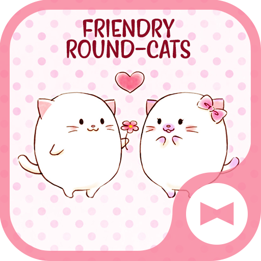 Cute Wallpaper Friendly Round-Cats Theme Icon