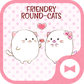 Cute Wallpaper Friendly Round-Cats Theme