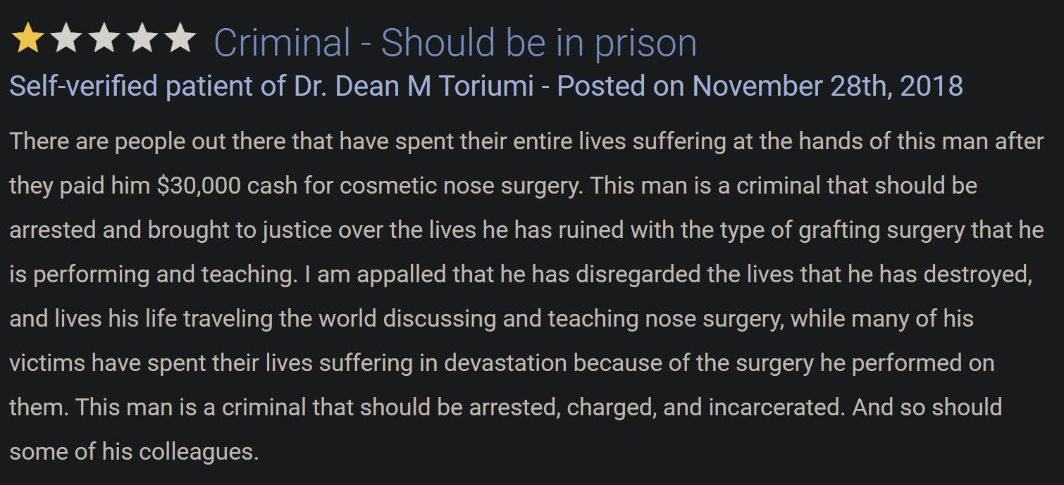 Dr. Dean Toriumi review 3
