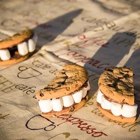 Broken heart by Anh Nguyen - Food & Drink Cooking & Baking ( cookie, broken, love, story, heart, smiley, tooth, baking )