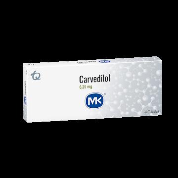 Carvedilol MK 6.25mg   Caja X 30Tab