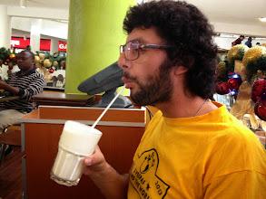 Photo: Enjoying the thickest milk shake ever!!