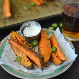 Sweet Potato Spears with Lemongrass Dip.