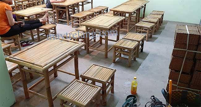 bàn ghế tre