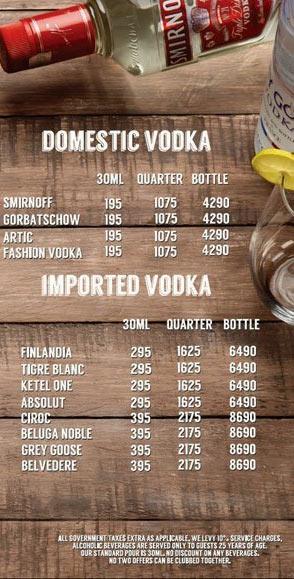 Lord of the Drinks Meadow menu 11