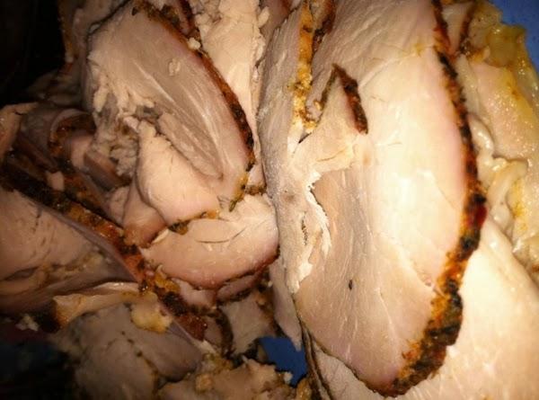 Thinly sliced pork roast.