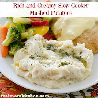 Rich and Creamy Slow Cooker Mashed Potatoes.