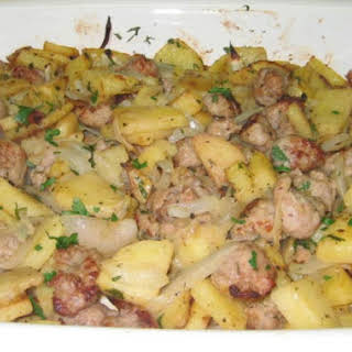 Italian Sausage and Potatoes.