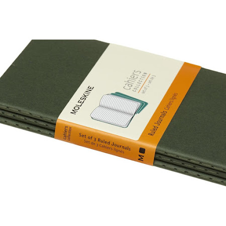3 x Cahier Journal Pocket Green