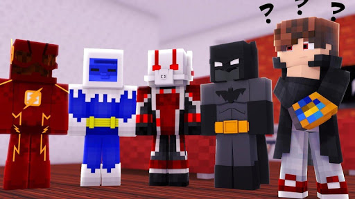 Superhero Skins for Minecraft Pocket Edition MCPE 1.1 screenshots 3