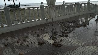 Imagen de algunos de los desperfectos ocasionados por las lluvias.