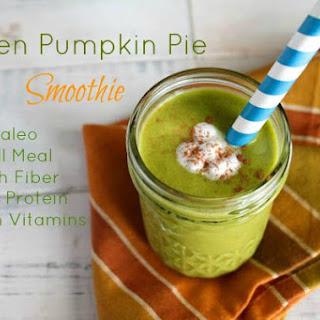 Paleo Green Pumpkin Pie Smoothie