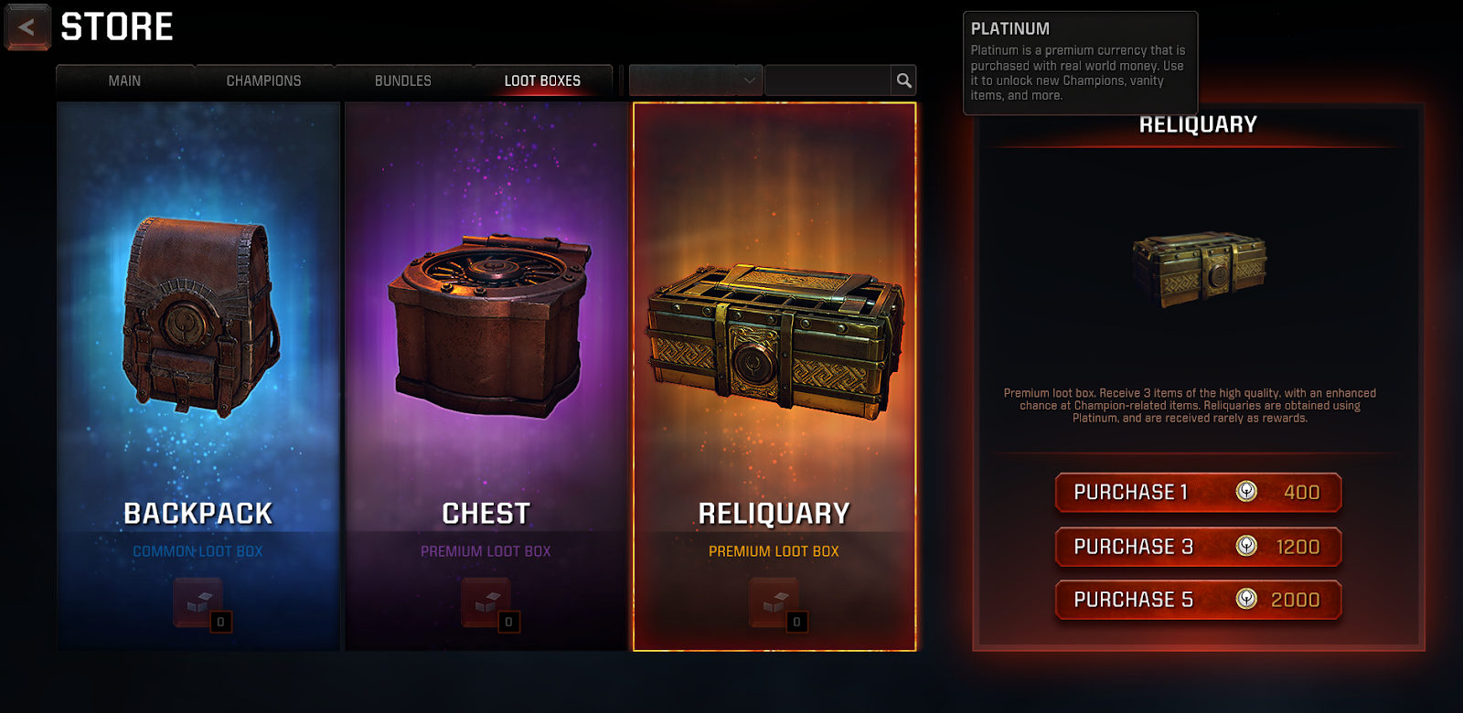 An example of a loot box.