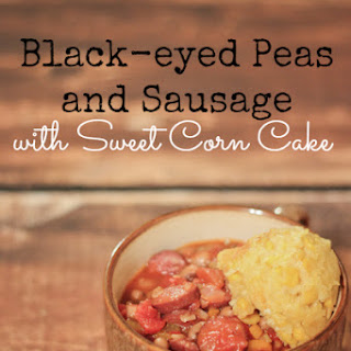 Black-eyed Peas and Sausage with Sweet Corn Cake