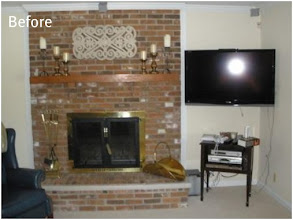 Photo: (Before) Francisco's Brick Fireplace Southampton, NJ