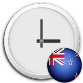 New Zealand Clock & RSS Widget