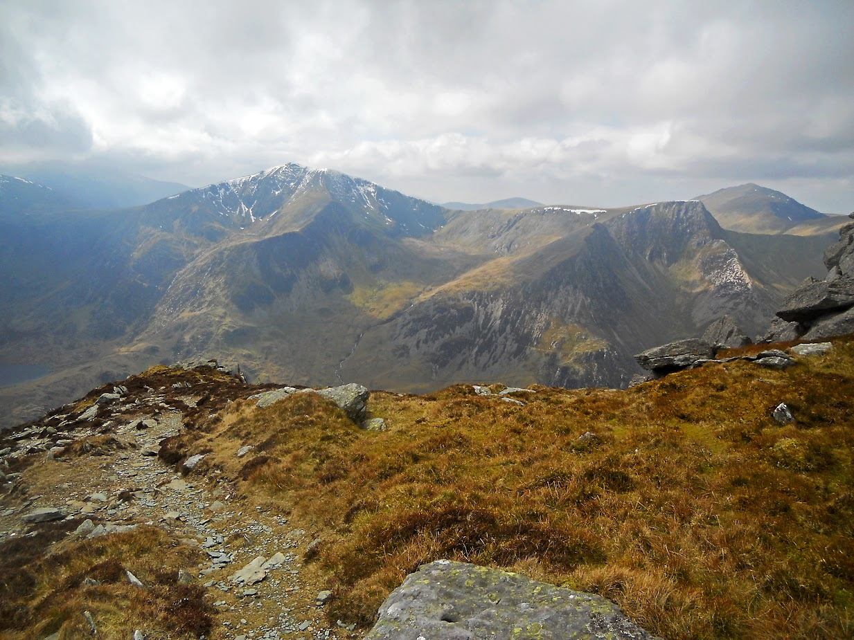 view from the top of Pen yr Ole Wen